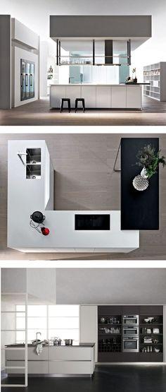 #kitchen with island HI-LINE 6/HI-LINE by DADA | #design Ferruccio Laviani @moltenidada