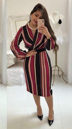 ideas moda casual oficina gorditas for 2019 Trendy Dresses, Casual Dresses, Casual Outfits, Fashion Dresses, Dresses For Work, Trend Fashion, Womens Fashion, Fashion Casual, Mode Hijab