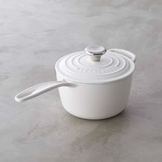 Le Creuset Signature Cast-Iron Saucepan - White