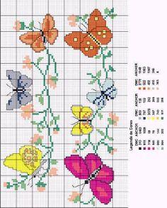 Butterflies bordures