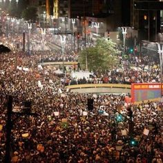 Protesto Av. Paulista, Sao Paulo, Brasil... #mudabrasil #changebrazil
