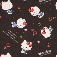 http://www.kawaiifabric.com/en/p10423-dark-grey-Hello-Kitty-small-flower-butterfly-mini-dot-oxford-fabric.html