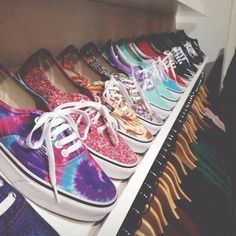 I love these patterns & colors, and I want some Vans, lol