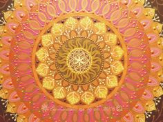 Yellow-orange-pink-brown-gold Sunmandala with Seed of Life symbol Sunmandalas by Je - 2018 (C)  #mandalaart#mandala#sunmandala#sunmandalasbyje#sun#art#painting#dots#hungary#ancientsymbols#mandalapainting#colors#sacredgeometry##moods#mandalafestés#napmandala#nap#szakrálisgeometria#ősiszimbólumok#hangulatok#színek#magyar#art#hun#colors#mood#zenart#mag#hun#zenart#egyedimandala#handmade#photoart