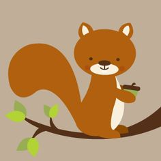 Squirrel Printable for Forest Nursery