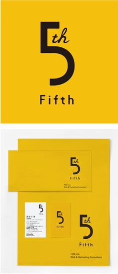 Visual identity system for 5TH FIFTH