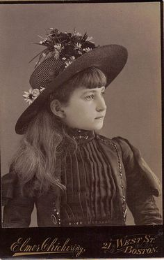 young girl- boston. Beautiful hat and girl