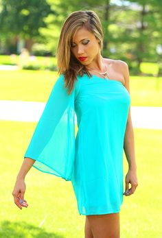 One For The Money Dress in Jade