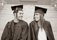 cutest couple college graduation photos Arizona State University by Stesha Jordan Photography