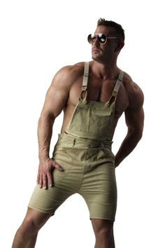 mens-beige-cotton-overall-shorts-1