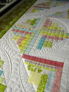 ...some quilting progress