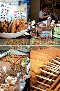 Best fish market in the world: Jōgai-Shijo, Tsukiji Japan Fish Market. What is Japans popular fish market? It's tsukiji and has Jōgai-Shijo street food Japanese Sauce, Japanese Food, Japanese Fashion, Tokyo Street Food, California Food, Tsukiji, Food Festival, International Recipes, Food Truck