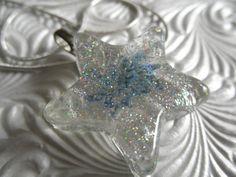 Star Light Star BrightPressed Flower Sparkle by giftforallseasons, $24.00