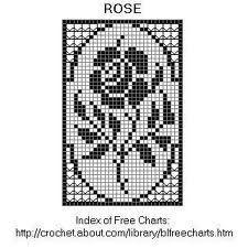 rose bud knitting chart pattern - Google Search