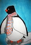 Artsonia Art Exhibit :: Penguin Portraits in Profile with Pattern! - 1st grade