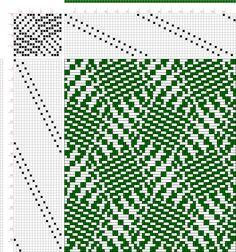 draft image: Figure 1090a, A Handbook of Weaves by G. H. Oelsner, 16S, 18T
