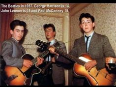 young Beatles, 1957.  Had no idea they were than young when they got together.  Makes sense why they were so big... they were determined.