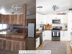 Mobile Home Remodel and Decorating farmhouse kitchen remodel. Remodeling our double wide mobile home Mobile Home Renovations, Mobile Home Makeovers, Remodeling Mobile Homes, Home Remodeling, Kitchen Remodeling, Farmhouse Style Kitchen, Modern Farmhouse Kitchens, Home Decor Kitchen, Home Kitchens