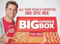 Aaron Rodgers, Pizza Hut