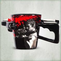 The Walking Dead Daryl Crossbow Coffee Mug -  Need a cup of coffee before a day filled with taking out zombies? The Walking Dead Daryl Crossbow Coffee Mug features an image of Daryl from the hit TV series The Walking Dead. The mug handle is sculpted to resemble a crossbow - Daryl's weapon of choice. - Check it out here: https://geekify.me/product/The-Walking-Dead-Daryl-Crossbow-Coffee-Mug #geekifyme