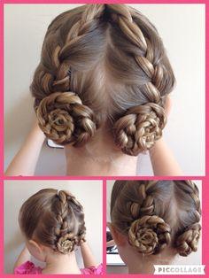 Little girls hair style Braided hairstyle