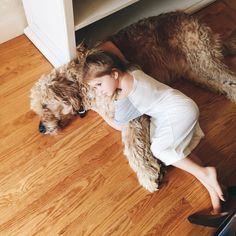 Идиллия. #девочка #собака #girl #dog