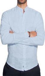 Ανδρικό λινό πουκάμισο MAO - Ανοιχτό μπλέ