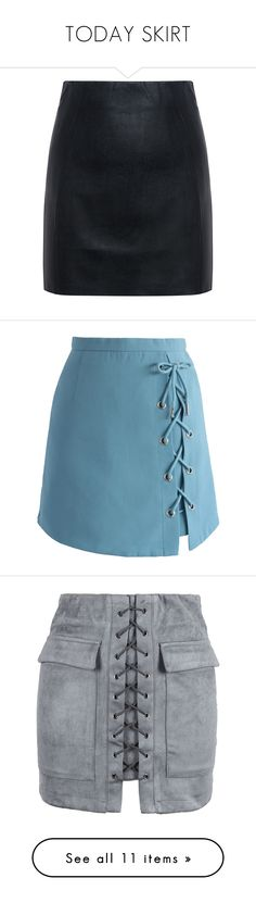 """""""TODAY SKIRT"""" by woodsenlikethis ❤ liked on Polyvore featuring skirts, mini skirts, bottoms, saias, sexy short skirts, sexy skirt, short mini skirts, sexy miniskirts, short skirts and blue"""