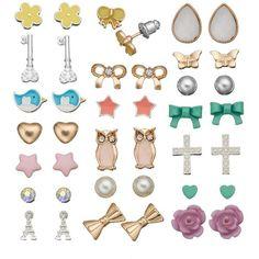 SO Flower, Star, Teardrop, Bow, Heart, Owl, Eiffel Tower, Butterfly,... (17 AUD) ❤ liked on Polyvore featuring jewelry, earrings, cross earrings, fake pearl earrings, butterfly earrings, heart earrings and owl earrings