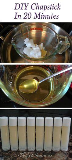 DIY Chapstick (Copycat Blistex Medicated Lip Balm)