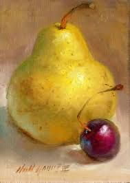 Image result for How to paint a cherry in oils