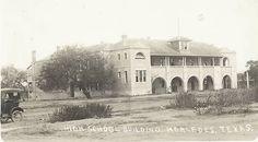Mercedes High School in Mercedes, Texas, circa 1915.