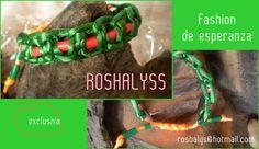 Las Manualidades de Roshalyss: pulsera fashion de esperanza