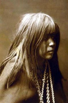 Mohave Girl. Photograph by Edward S. Curtis.
