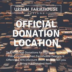 Don't Forget, we are Still Donations for the Victims of Hurricane Harvey. To Encourage Donations is Offering a Discount Store Wide when you bring in Your Donated Item Off Our Drop Off List. We can't Thank You Enough for the all of the donations! Donation Quotes, Urban Farmhouse Designs, Don't Forget, Encouragement, Bring It On, Drop, Store, Instagram Posts, Larger