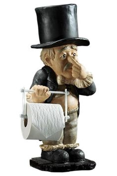 Tissue Butler Charming Tissue Holder Is a Humorous Addition to Your Bath Decor Funny Toilet Paper Holder, Free Standing Toilet Paper Holder, Toilet Paper Humor, Roll Holder, Bathroom Humor, Bathroom Organization, Amazing Bathrooms, Interior Design Living Room, Butler