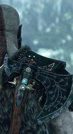 God of War / Kratos》 Tatoo Biceps, Video Game Art, Video Games, Vikings, God Of War Series, Viking Wallpaper, Witcher Wallpaper, Kratos God Of War, Greek Pantheon