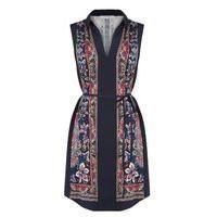 Oasis Nikita Placement Shirt Dress, Multi-Coloured
