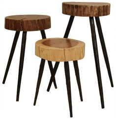 Cobble Hill Terra Stools/Side Tables