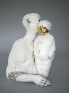 Claire Curneen, Mother and Child, Contemporary Sculpture, Contemporary Ceramics, Contemporary Art, Sculpture Head, Sculptures Céramiques, Ceramic Sculptures, Ceramic Sculpture Figurative, Figurative Art, Ceramic Figures