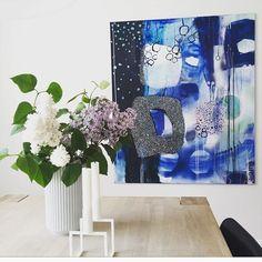 Abstract colourful painting by Mette Lindberg www.mettelindbergart.dk