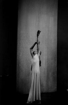 Pina Bausch (1940-2009) performing Café Müller, by Ulli Weiss.