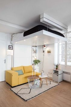Interior Design, Renovation, Decoration, Furniture - archiparti is an award-winning interior design management service for go-getters. Small Apartment Design, Small Apartments, Small Spaces, Apartment Ideas, Space Saving Beds, Space Saving Furniture, Teen Room Decor, Bedroom Decor, Teen Bedroom Designs