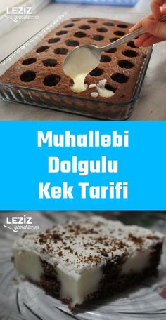 Muhallebi Dolgulu Kek Tarifi Custard Filled Cake Recipe I The post Custard Filled Cake Recipe Recipes appeared first on Pink Unicorn. Healthy Cake Recipes, New Recipes, Snack Recipes, Cooking Recipes, Cooking Cake, Easy Recipes, Dinner Recipes, Healthy Food, Drink Recipes