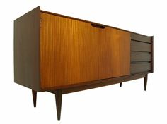 Large Mid Century Credenza or Media Console with contrasting grain  #VintageRetro
