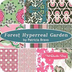 Forest Hyperreal Garden Fat Quarter Bundle Pat Bravo for Art Gallery Fabrics - Fat Quarter Shop