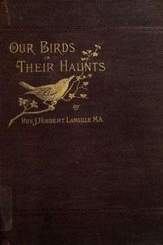 "geisterseher: ""J. Langille, Our birds in their haunts : a popular treatise on the birds of Eastern North America "" Book Cover Art, Book Cover Design, Book Design, Book Art, Old Books, Antique Books, Wildwood Flower, Modern Books, Mood Images"