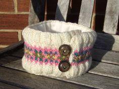 Chunky lined fairisle headband £9.00