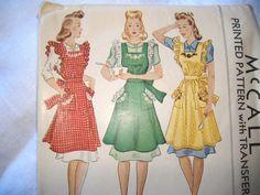 vintage apron patterns very cool