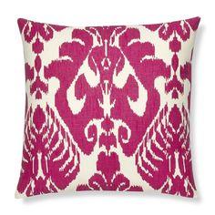 Silk Ikat Medallion Pillow Cover, Rasberry #williamssonoma